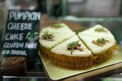 Cheesecake κολοκύθας Στοκ Φωτογραφίες
