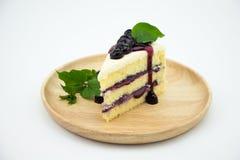 Cheesecake κρέμας βακκινίων Στοκ Φωτογραφίες
