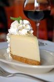 cheesecake κρασί Στοκ εικόνες με δικαίωμα ελεύθερης χρήσης