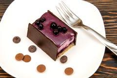 Cheesecake με τα βακκίνια Στοκ εικόνα με δικαίωμα ελεύθερης χρήσης