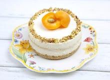 Cheesecake με τα βερίκοκα Στοκ Εικόνες