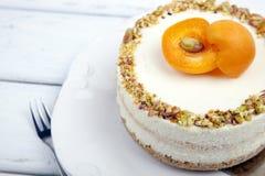 Cheesecake με τα βερίκοκα Στοκ φωτογραφίες με δικαίωμα ελεύθερης χρήσης