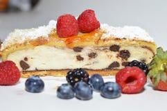 Cheesecake με τα μούρα Στοκ εικόνα με δικαίωμα ελεύθερης χρήσης