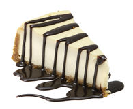 Cheesecake με την πορεία ψαλιδίσματος μανδρών συμπεριλαμβανόμενη Στοκ Φωτογραφίες