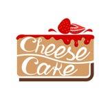 Cheesecake με τη μαρμελάδα φραουλών διάνυσμα Στοκ Φωτογραφία