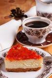 Cheesecake με τη μαρμελάδα goiabada Στοκ Φωτογραφίες