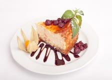Cheesecake με το σμέουρο Στοκ φωτογραφία με δικαίωμα ελεύθερης χρήσης