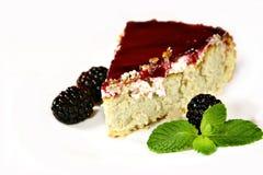 cheesecake μούρων μέντα Στοκ εικόνες με δικαίωμα ελεύθερης χρήσης