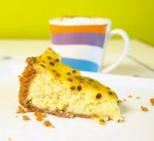 cheesecake πάθος καρπού Στοκ Εικόνες