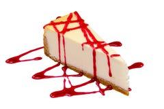Cheesecake σε ένα άσπρο υπόβαθρο Στοκ εικόνα με δικαίωμα ελεύθερης χρήσης