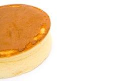 Cheesecake σε ένα άσπρο υπόβαθρο Στοκ εικόνες με δικαίωμα ελεύθερης χρήσης