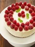 cheesecake σμέουρο Στοκ εικόνα με δικαίωμα ελεύθερης χρήσης