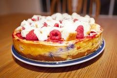 Cheesecake σμέουρων Στοκ Εικόνα
