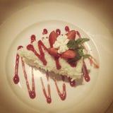Cheesecake σμέουρων Στοκ Φωτογραφίες
