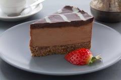 Cheesecake σοκολάτας. Στοκ Φωτογραφίες