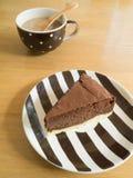Cheesecake σοκολάτας Στοκ εικόνες με δικαίωμα ελεύθερης χρήσης