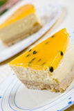 cheesecake σπιτικές πορτοκαλιές &phi Στοκ Εικόνα