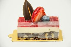 Cheesecake φραουλών Στοκ Εικόνες