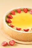 Cheesecake φραουλών βανίλιας στοκ φωτογραφίες με δικαίωμα ελεύθερης χρήσης