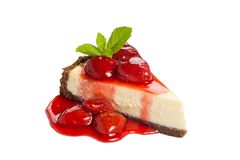 Cheesecake φραουλών Στοκ εικόνα με δικαίωμα ελεύθερης χρήσης