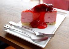 Cheesecake φραουλών Στοκ φωτογραφία με δικαίωμα ελεύθερης χρήσης