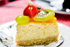 Cheesecake φρούτων Στοκ Φωτογραφία