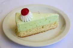 Cheesecake φυστικιών Στοκ Φωτογραφία