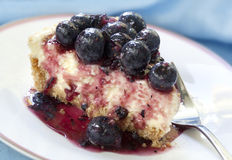 cheesecake голубики Стоковое Изображение