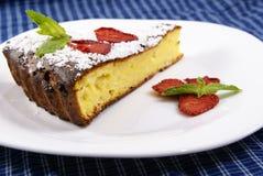 cheesecake домодельный Стоковая Фотография RF