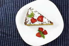cheesecake домодельный Стоковое Изображение RF