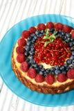 cheesecake ягод Стоковые Фотографии RF