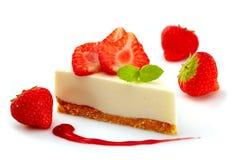 Cheesecake клубники Стоковые Изображения