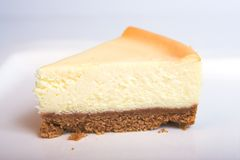 Cheesecake. Slice of new york cheesecake royalty free stock images