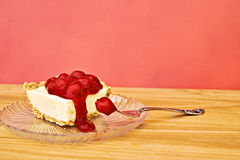 Cheesecake. Delicious serving of cherry cheesecake Royalty Free Stock Photo