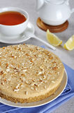 Cheesecake with almond Stock Images