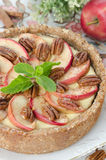 Cheesecake with apples Royalty Free Stock Image