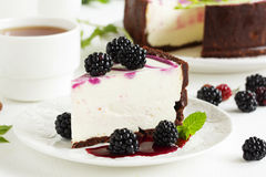 Cheesecake without baking Royalty Free Stock Photography