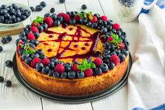 Cheesecake with Berries Stock Image