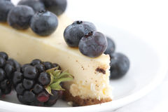Cheesecake with berries close up Royalty Free Stock Photos