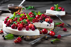 Cheesecake with berries Royalty Free Stock Photo