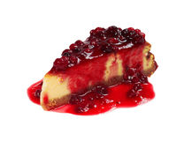 Cheesecake with Berries Sauce Royalty Free Stock Photos