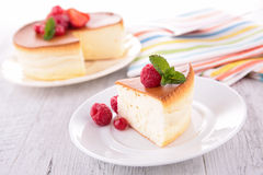 Cheesecake with berry fruit Stock Images