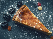 Cheesecake with blackberries Royalty Free Stock Photo