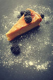 Cheesecake with blackberries Royalty Free Stock Images
