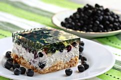 Cheesecake with blueberries Royalty Free Stock Images