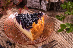 Cheesecake blueberries Royalty Free Stock Photography