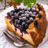 Cheesecake blueberries Royalty Free Stock Images