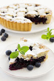 Cheesecake with blueberries Stock Images