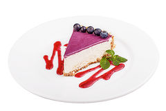 Cheesecake with blueberries Stock Photo