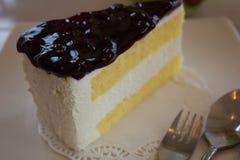 Cheesecake Blurberry Στοκ εικόνες με δικαίωμα ελεύθερης χρήσης